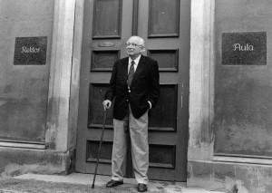 Wolfgang Koeppen 1990 in Greifswald, Foto: Hans Joachim Dieme