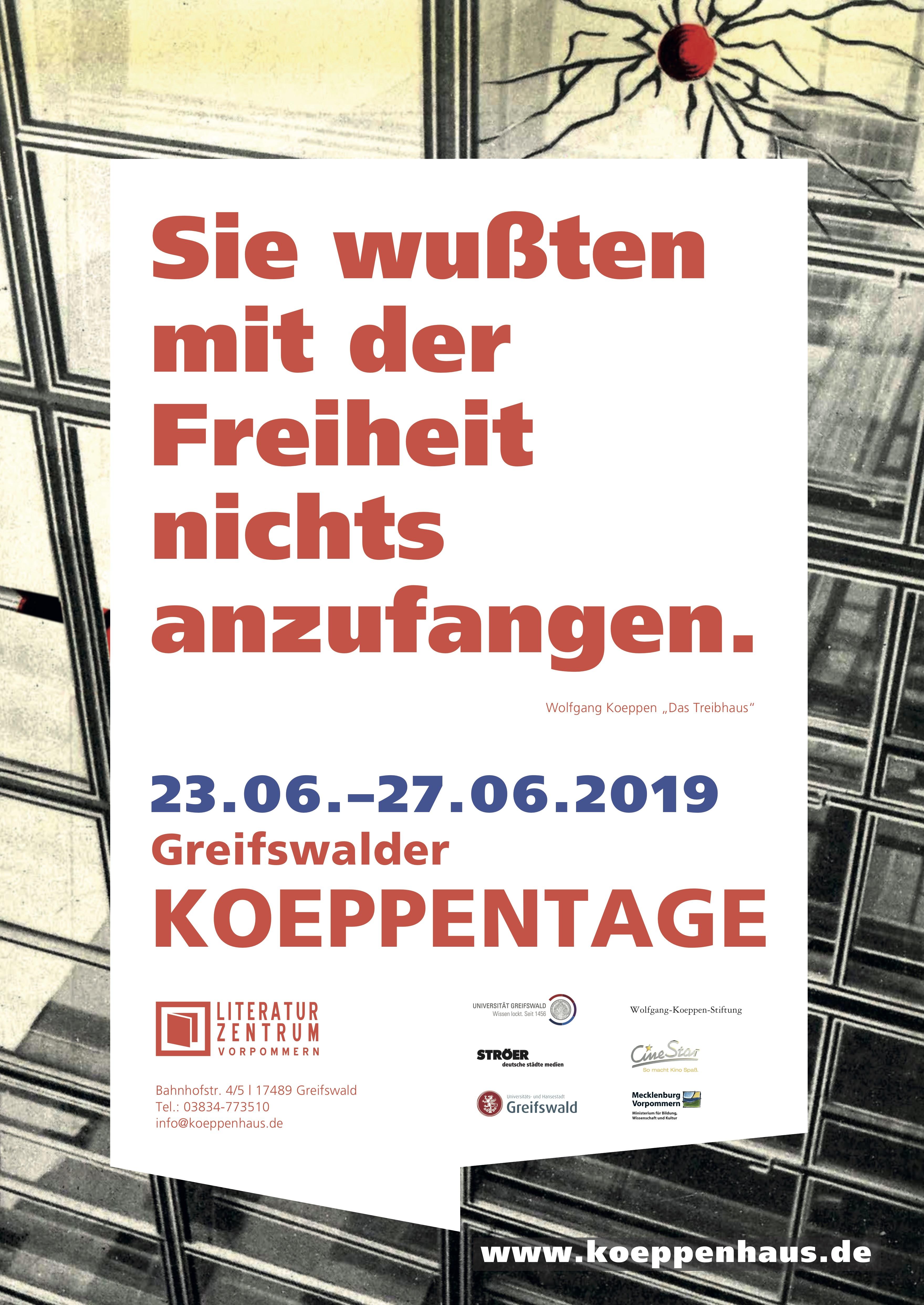 Koeppenhaus Greifswalder Koeppentage 2019